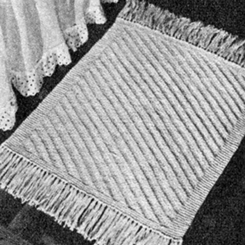 Vintage Rug Knitting Pattern in Diagonal Stitch