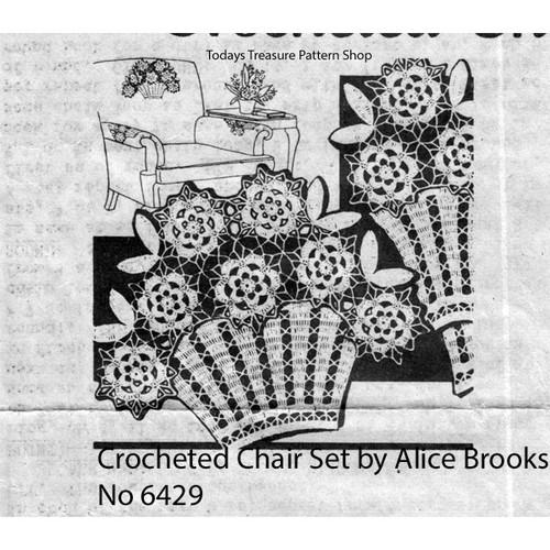 Mail Order Design 7409, Crochet Flower Basket Pattern