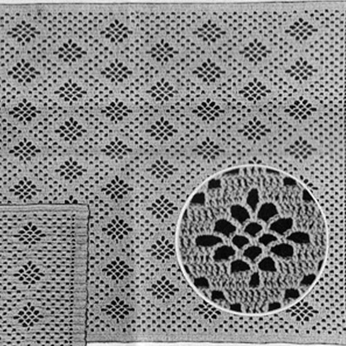 Crochet Diamond Mesh Chair Set Pattern