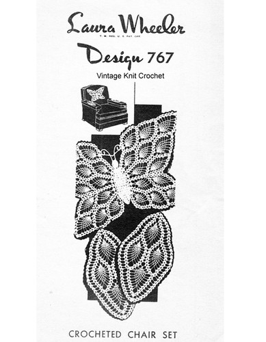 Crochet Butterfly Doily Pattern, Pineapples, Mail Order 767