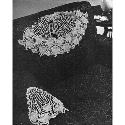 Vintage Pineapple Fan Chair Set Crochet pattern