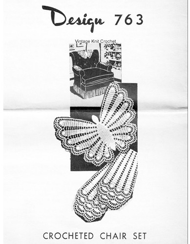 Crochet Butterfly Doily Pattern, Mail Order 763