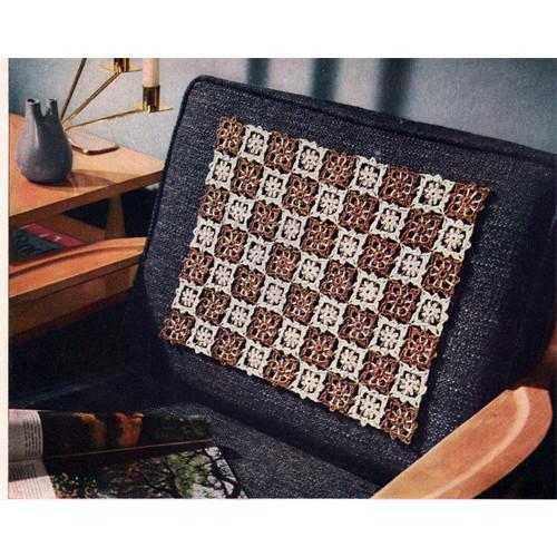 Small Medallion Crochet Chair Set Pattern
