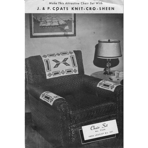 Vintage Native American Crochet Chair Set Pattern