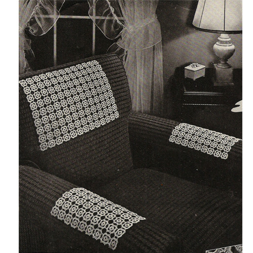 Crochet Medallions Pattern for Cloth Chair Sets