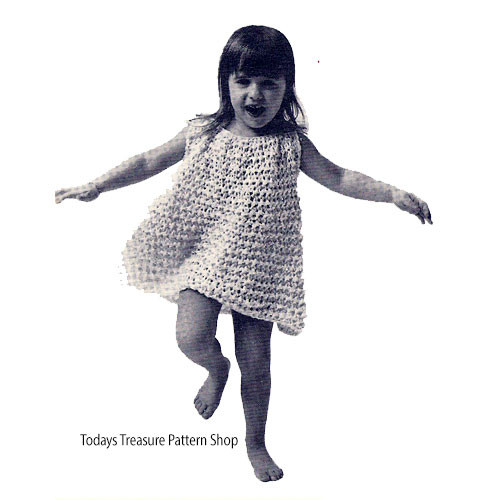 Free Loop Stitch Crochet Dress Pattern for Toddlers