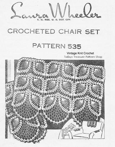 Pineapple Crochet Chair Doily Pattern, Mail Order 535