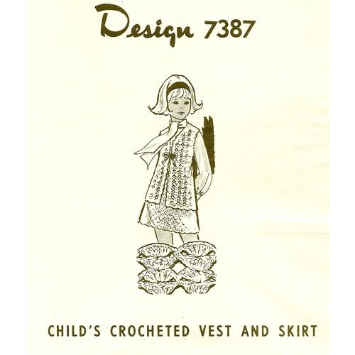 Girls long vest crochet pattern