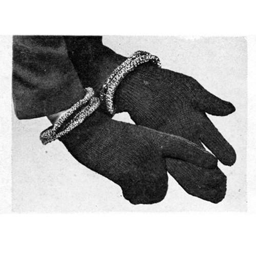 Vintage Mittens Knitting Pattern called Handi-Mitts