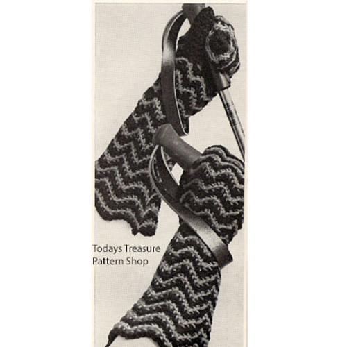 Crocheted Ripple Gloves Pattern
