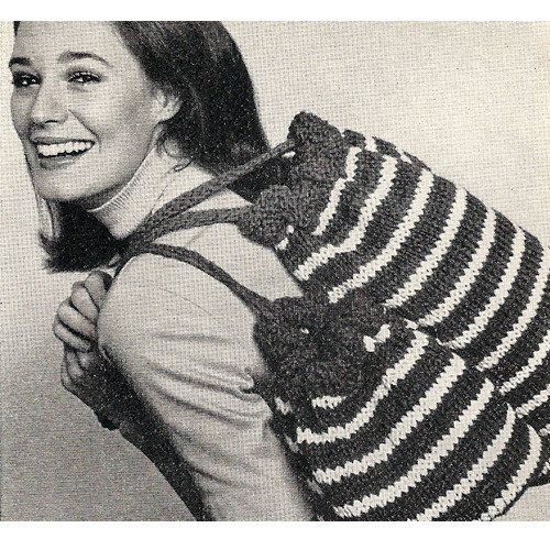 Vintage Knitted Tote Bags Pattern