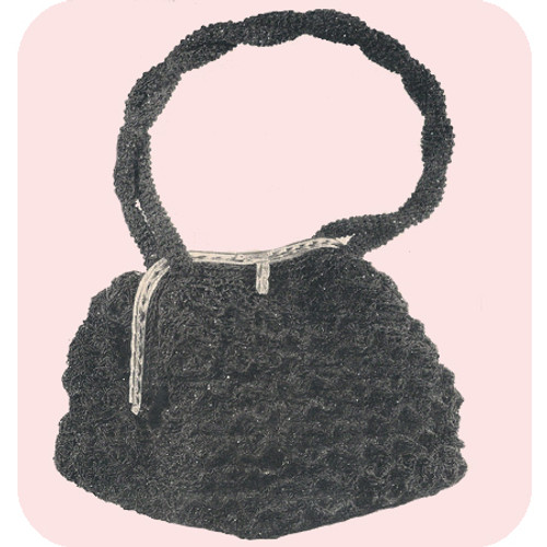 Vintage Crochet Pattern for Handbag with Clasp