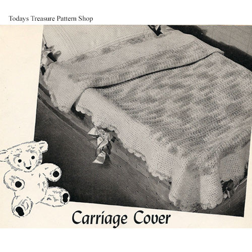 Vintage Crochet Carriage Cover Pattern