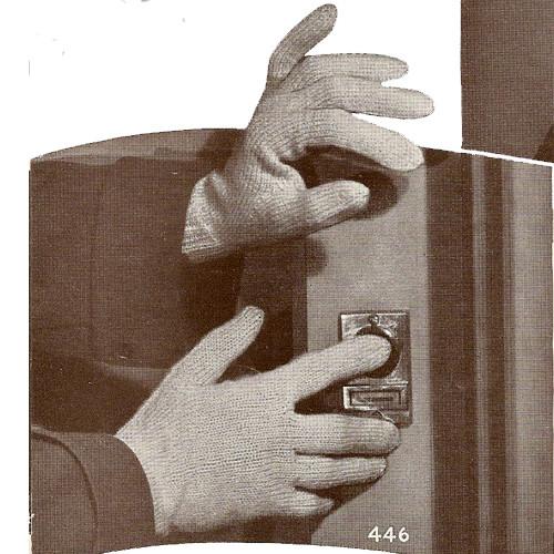 Misses Vintage Gloves Knitting pattern