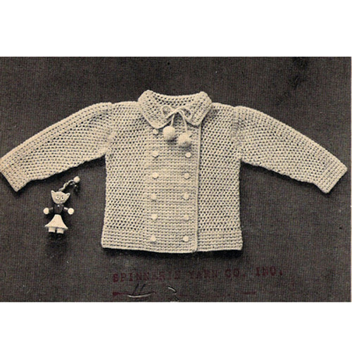 Crochet Infant Double Breasted Jacket Pattern