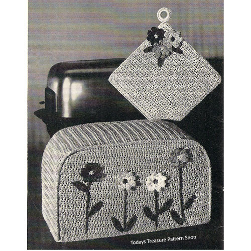 Crochet Toaster Cover and Potholder Pattern
