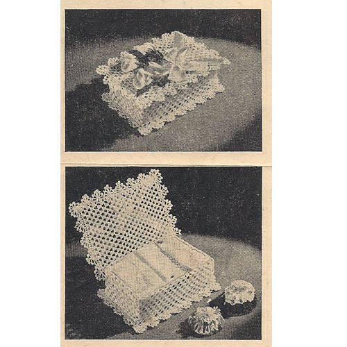 Free Vintage Crochet Lace Box Pattern with Lid