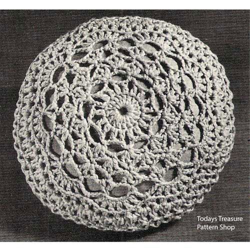 Crocheted Round Pillow Cover pattern