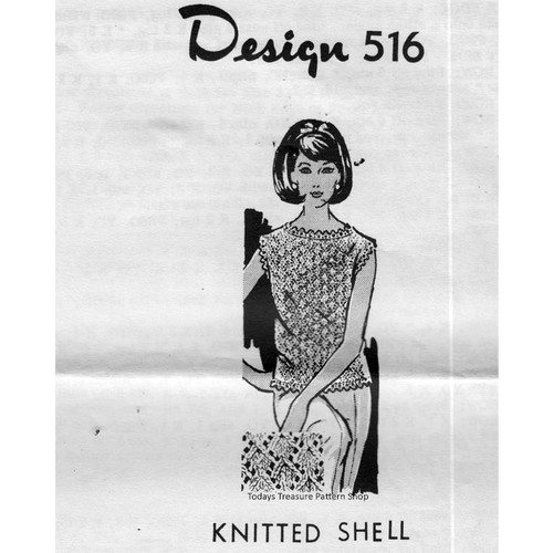 Mail Order Design 516, Womans Knit Shell pattern
