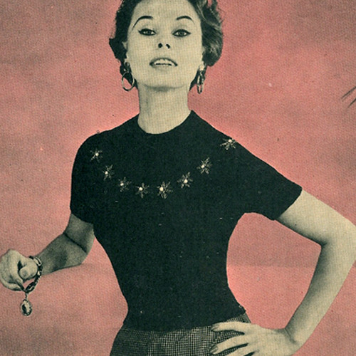 Knitted Star Blouse Pattern, Vintage 1940s