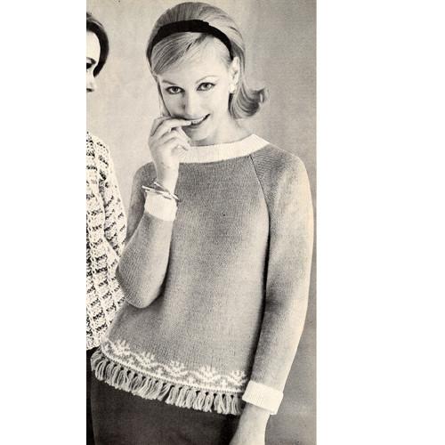Loose Fitting Sweater Knitting Pattern