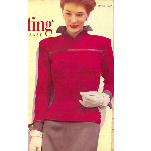 Knitted Long Sleeve Collared Blouse