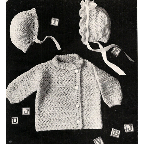 Side Button Baby Jacket Crochet Pattern