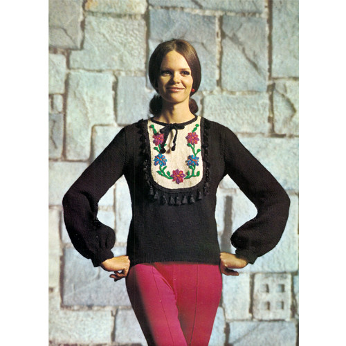 Knitted Blouse Pattern with Spanish Flair