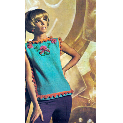 Knitting Pattern Sleeveless Tunic