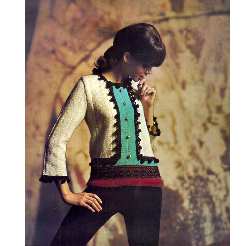 Colorful Matador Knitted Pullover Pattern