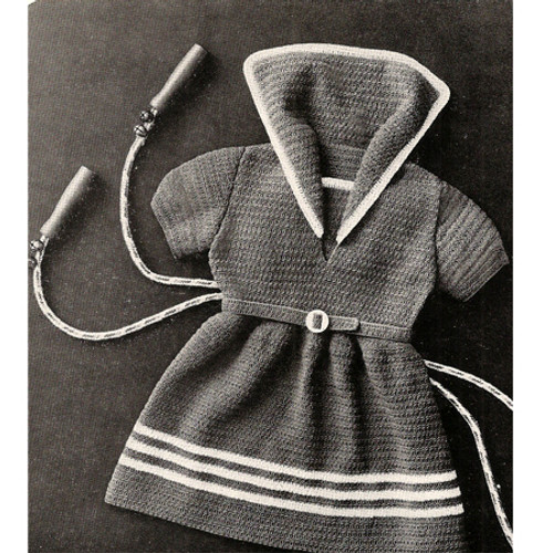 Little Girls Crochet Sailor Dress Pattern