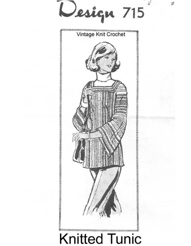 Striped Tunic Knitting Pattern, Mail Order 715