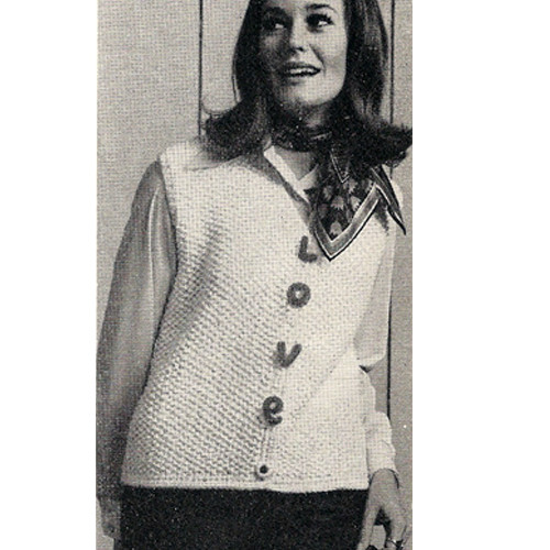 Misses Love Vest Knitting Pattern
