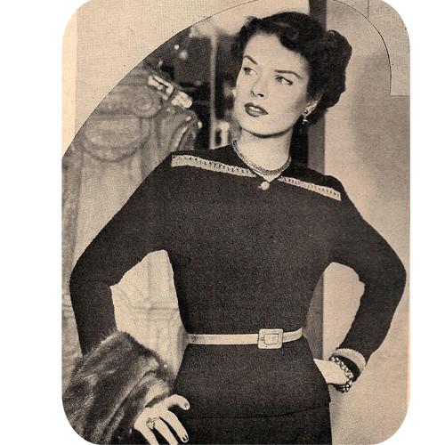 Knitting pattern Nub Blouse Pattern, Vintage 1940