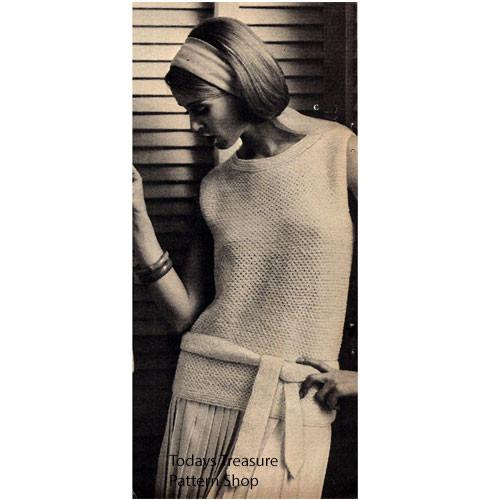 Long Sleeveless Tunic Knitting Pattern