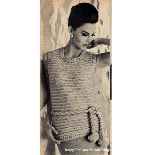 Easy Ribbed Shell Knitting pattern