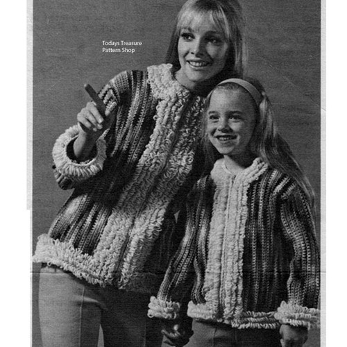 Crochet Parka Pattern for Mother Daughter