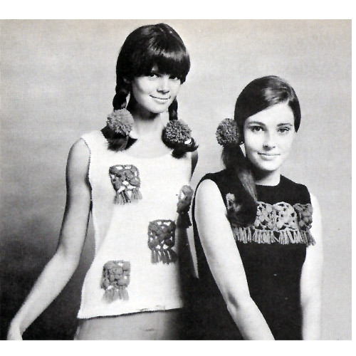 Knitted Sleeveless Tops pattern with Mexican Motif