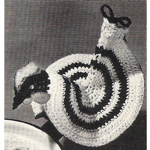 Crocheted Rooster Potholder Pattern
