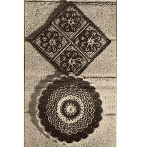 Crochet Flower Potholders Pattern