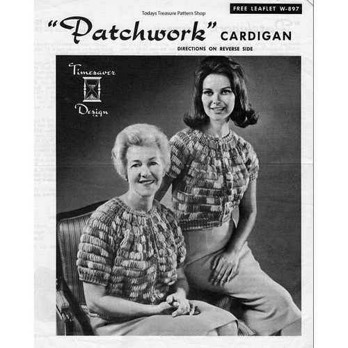 Knitted patchwork Knitted Jacket Pattern