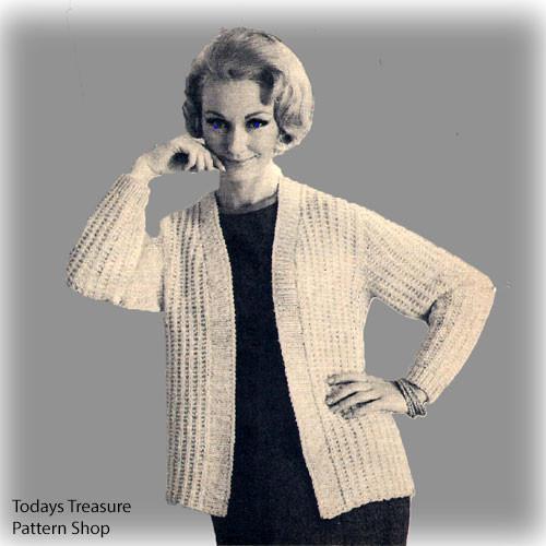 Plus Size Jacket Knitting Pattern