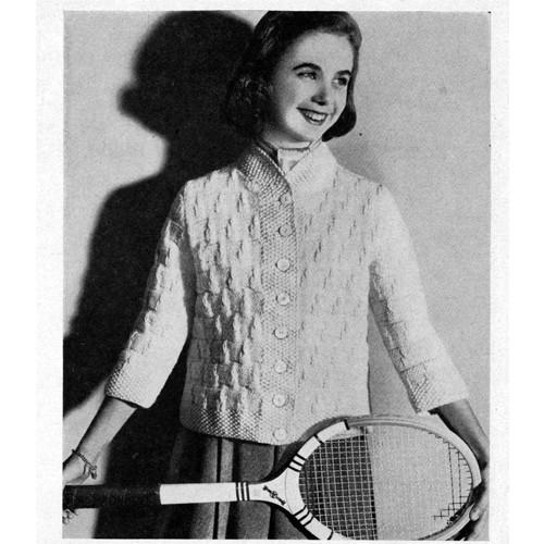 Vintage Seed Stitch Knitted Jacket pattern
