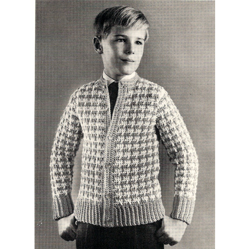 Childs Checked Crochet Sweater Pattern