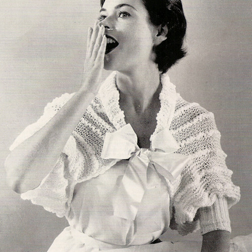 Vintage Lace Shouderette Knitting pattern