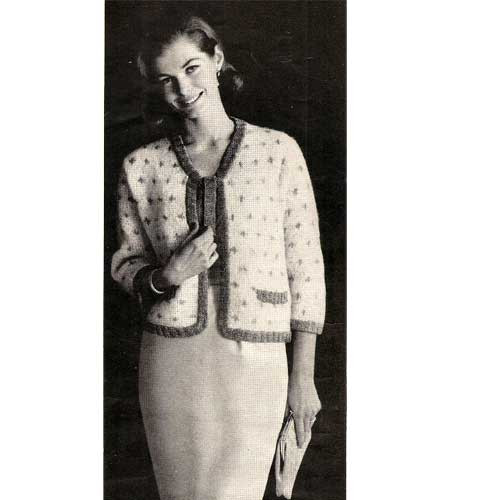 Knitting Pattern Mohair Sweater with Open Front