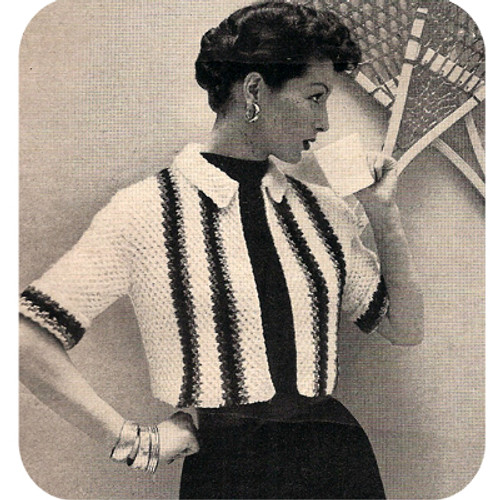 Striped Honeycomb Bolero Knitting Pattern