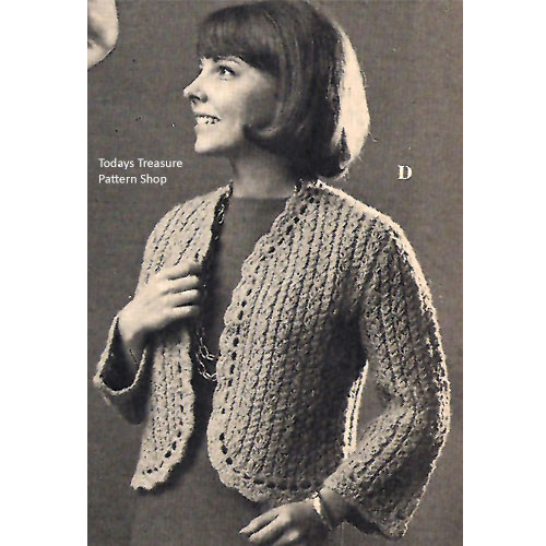 Knitting Pattern Short Shetland Jacket