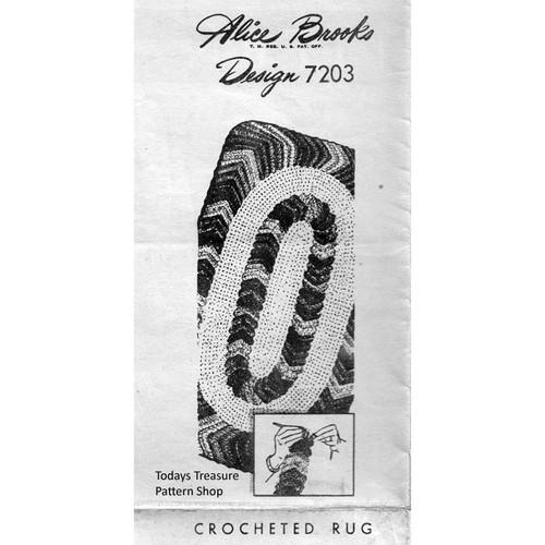 Alice Brooks 7203, Crochet Rug Pattern