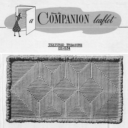 Crochet Companion Leaflet, Geometric Rug pattern